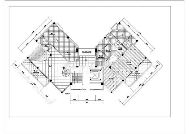 济南市双旭嘉园小区经典户型全套装修装饰设计CAD图纸-图二