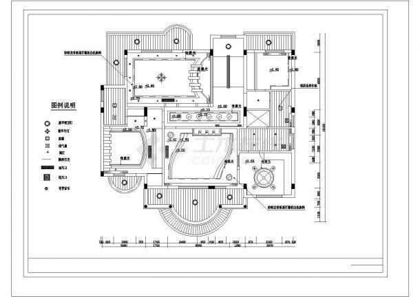昆山市宝山别墅区经典热门的别墅全套装修装饰设计CAD图纸-图一
