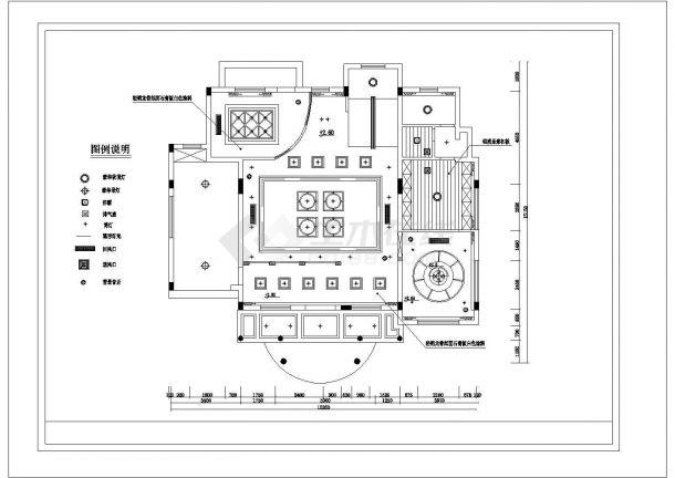昆山市宝山别墅区经典热门的别墅全套装修装饰设计CAD图纸-图二