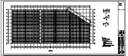 生产车间设计_某单层钢结构生产车间结构施工cad图纸-图二