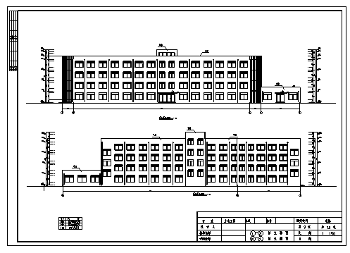 某县城某四层钢筋混凝土框架结构第三中学教学楼建筑施工cad图(含计算书,毕业设计)-图二