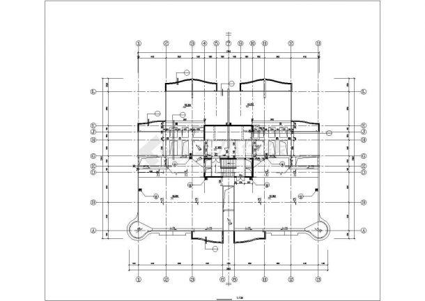 杭州市崤山西路某社区18层框架结构住宅楼建筑设计CAD图纸(含跃层)-图一