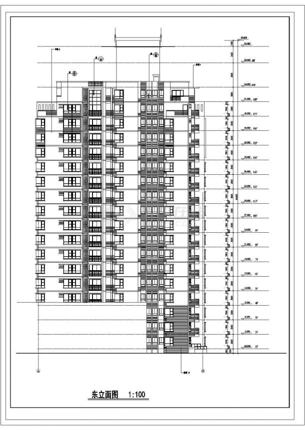芜湖市御澜佳苑小区19层框架结构住宅楼全套建筑设计CAD图纸-图一