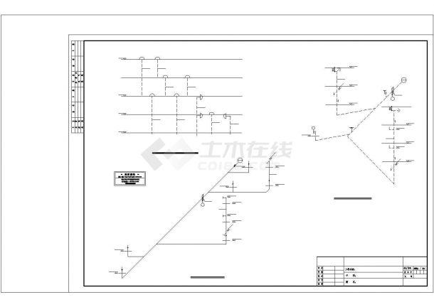 武汉某别墅给排水施工图CAD图纸设计-图一