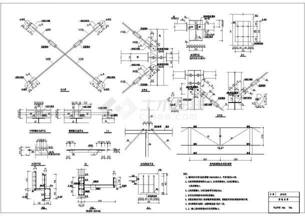 某单层工业厂房结构CAD建筑设计施工图-图一