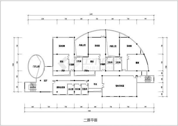 上海市闵行区南溪幼儿园建造施工设计CAD图纸-图一