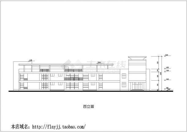 上海市闵行区南溪幼儿园建造施工设计CAD图纸-图二