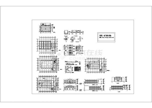 2层游泳馆建筑施工cad图纸设计-图一