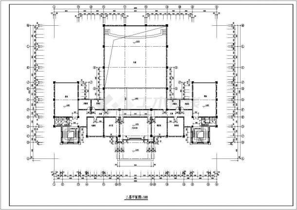 某地方学校建筑设计施工图-图一