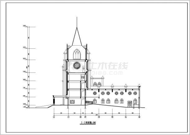 某地方学校建筑设计施工图-图二