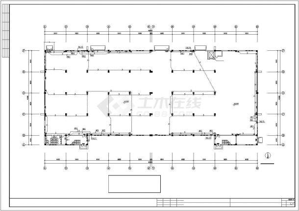 2层10米工业厂房电气施工图设计-图二