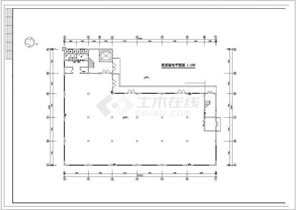 某5层5752㎡工业厂房电气施工设计图-图一