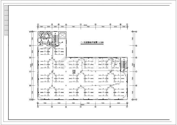 某5层5752㎡工业厂房电气施工设计图-图二