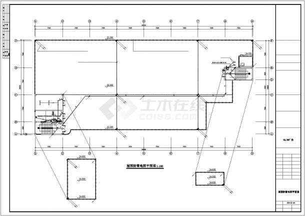 5层6682㎡工业厂房电气施工图设计-图二