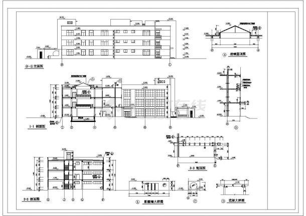 某市区文化娱乐城建筑cad规划图纸-图一