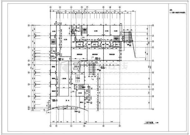 某市区文化娱乐城建筑cad规划图纸-图二