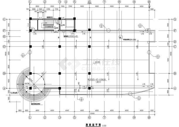 某市高层商办楼建筑规划图纸-图一