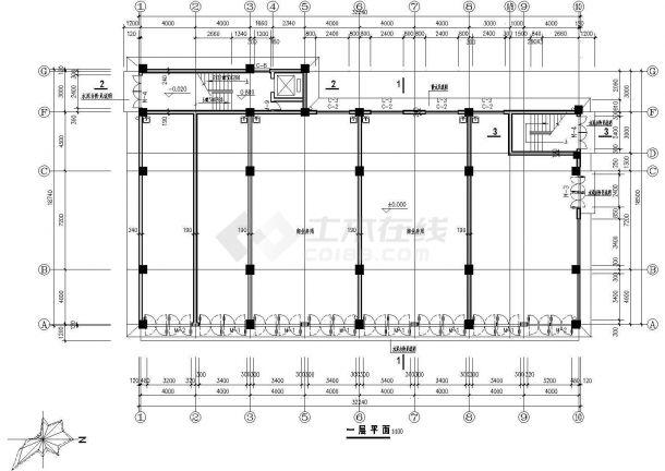 某市高层商办楼建筑规划图纸-图二