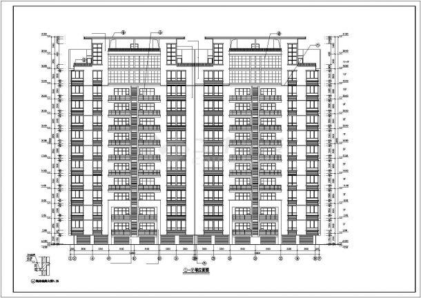 苏州市东湖嘉园小区7120平米11层框架结构住宅楼建筑设计CAD图纸-图一