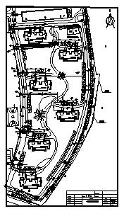 热力管网设计_某小区室外热力管网施工cad图纸-图一
