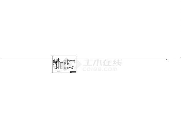某中式风格六角亭与廊CAD景观设计图-图二
