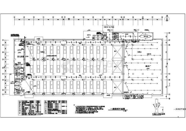 4层26680㎡重型注塑厂房电气施工图-图二