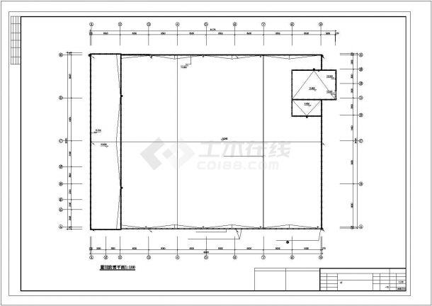 经济开发区标准3层3800㎡厂房电气施工图-图一