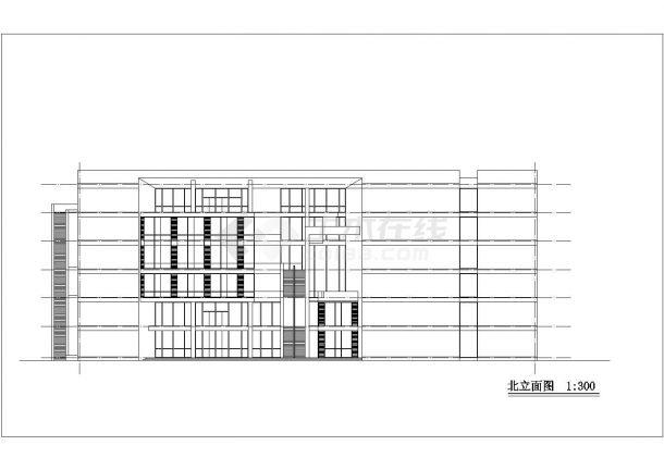 某大型多层商场设计cad建筑方案图纸-图一
