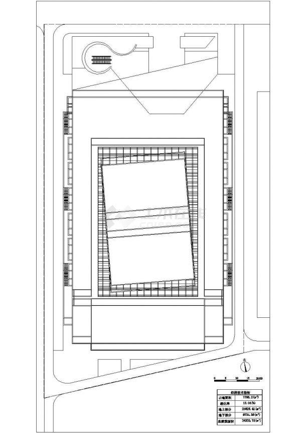 某大型多层商场设计cad建筑方案图纸-图二