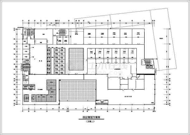 某大型现代商场设计cad平面布置方案图-图一