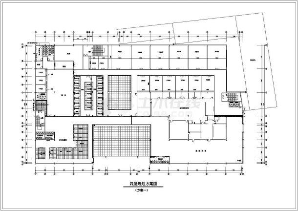 某大型现代商场设计cad平面布置方案图-图二