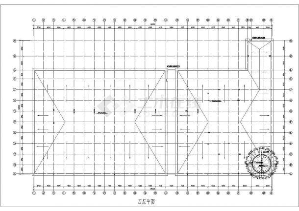 某砖混结构多层商场设计cad全套建筑施工图-图一