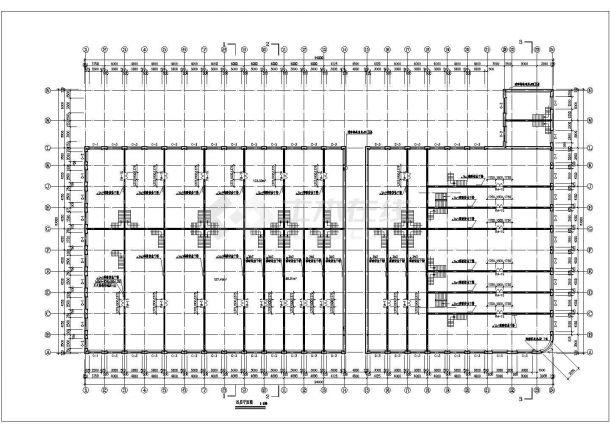 某砖混结构多层商场设计cad全套建筑施工图-图二
