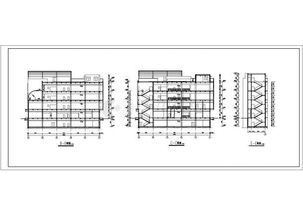 某多层砖混结构大型商场设计cad全套建筑施工图-图二