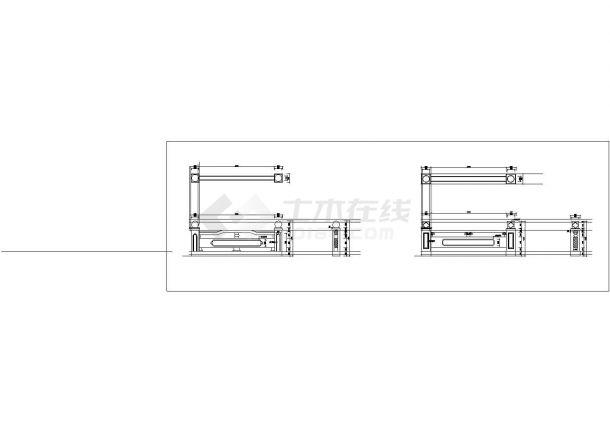 某小区桥护拦CAD景观设计施工图-图一