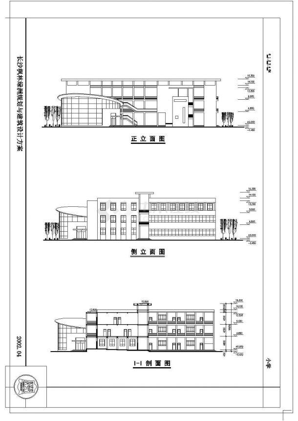长沙某地区小学建筑设计方案图-图一