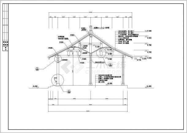 某公园整套亭子CAD景观设计施工图-图二