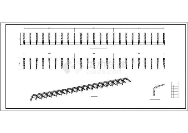 完整钢管桁架施工详图和节点图-图二