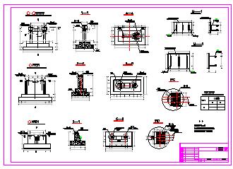 [海南]重力式渡槽施工设计cad图纸-图一
