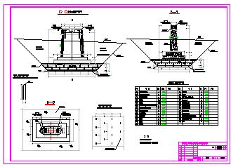 [海南]重力式渡槽施工设计cad图纸-图二