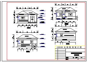 某地小型灌溉泵站施工设计cad图纸-图一