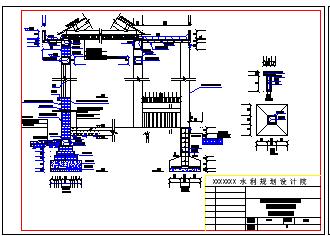 某地小型灌溉泵站施工设计cad图纸-图二