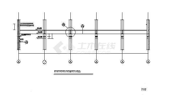 两贫江电站全套设计施工cad图纸(详细)-图一