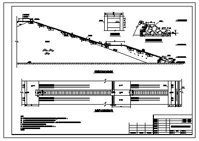 水库大坝竣工全套cad设计图纸(溢洪道 水库除险加固)-图一