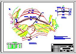 【湖南】常德市黄水库全套除险加固cad设计施工图-图二