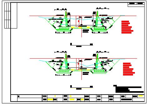 【福建】防洪渠渠道设计全套cad施工图纸-图二