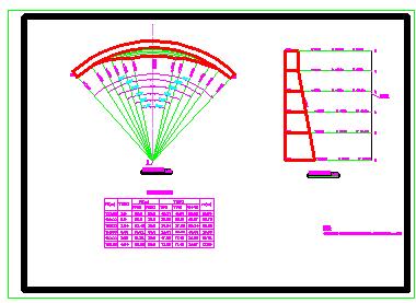 16米高单曲拱坝全套cad设计施工图纸(精品)-图一