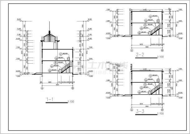 某商场分隔商铺CAD室内装修设计-图一