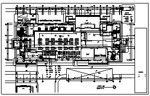 某市单位八层带地下一层后勤服务中心电气施工cad图(含强电,弱电,消防设计)-图一