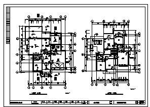 别墅设计_某二层独立别墅全套建筑施工cad图,含二十七套设计-图一